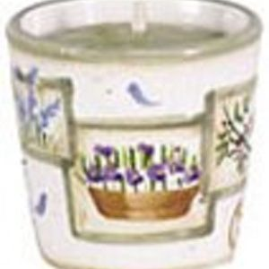 Garden Squares Ceramic Votive Candle Holder #10180